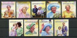 Chad, 2001, Queen Elizabeth II, Royal Family, MNH, Michel 2210-2218A - Tschad (1960-...)