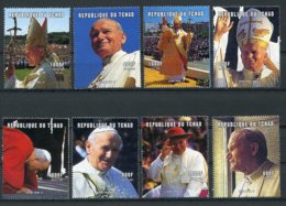 Chad, 2001, Pope John Paul, Catholicism, Religion, MNH, Michel 2244-2251A - Tschad (1960-...)