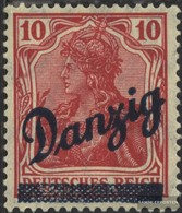 Danzig 36b Mit Falz 1920 Germania-Aufdruck - Dantzig