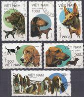 VIETNAM - 1989 - Lotto Di 6 Valori Usati Raffiguranti Cani: Yvert 963/968. - Vietnam