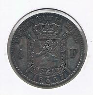 LEOPOLD 2 * 1 Frank 1867 Frans * Z.Fraai * Nr 9819 - 07. 1 Franc