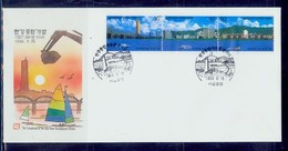 South Korea/1986 Completion Of Han River Development Project  Fdc / MNH.good Condition - Trasporti