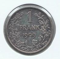 LEOPOLD 2 * 1 Frank 1909 Vlaams - Met Punt * Z.Fraai * Nr 9832 - 07. 1 Franc
