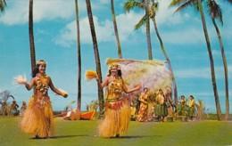 Hawaii Honolulu Tahitian Dancers At The Kodak Hula Show - Honolulu