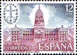 Espagne Poste N** Yv:2265 Mi:2521 Ed:2632 Palacio Del Congreso Buenos Aires - 1931-Aujourd'hui: II. République - ....Juan Carlos I