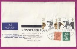 Great Britain - 1982 - Machin Machins On Cover 10p 2p Darwin Newspaper Post Second Class Windsor Berks - Série 'Machin'