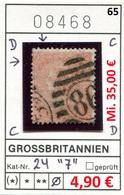Grossbritannien - Great Britain - Grand Bretagne - Michel 24 Plate 7 -  Oo Oblit. Used Gebruikt - Oblitérés