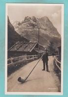 Small Post Card Of Alphornbläser,Switzerland,Q100. - Switzerland