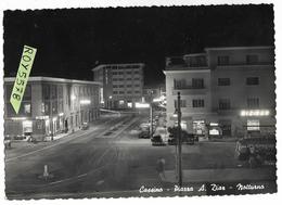 Lazio-frosinone-cassino Piazza A.diaz Veduta Notturna Piazza Auto Epoca Auto Corriera Bar Tabacchi Animata Anni 50 - Altre Città