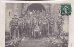 Groupe De Soldats Du 21ème Régiment D'Infanterie - Basé à Langres (52) - Carte Photo - Ecrite 1911 CAD - Régiments