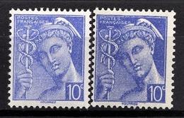 FRANCE 1942 - Y.T. N° 546 X 2 NUANCES  - NEUFS** - France