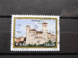 *ITALIA* USATI 2004 - 31^ TURISTICA VIGNOLA - SASSONE 2755 - LUSSO/FIOR DI STAMPA - 6. 1946-.. Repubblica