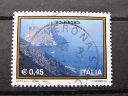 *ITALIA* USATI 2004 - 31^ TURISTICA ISOLE EGADI - SASSONE 2754 - LUSSO/FIOR DI STAMPA - 6. 1946-.. Repubblica