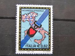 *ITALIA* USATI 2004 - CAMPAGNA SICUREZZA STRADALE - SASSONE 2753 - LUSSO/FIOR DI STAMPA - 6. 1946-.. Repubblica