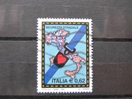 *ITALIA* USATI 2004 - CAMPAGNA SICUREZZA STRADALE - SASSONE 2753 - LUSSO/FIOR DI STAMPA - 2001-10: Used