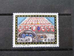*ITALIA* USATI 2004 - CAMPAGNA SICUREZZA STRADALE - SASSONE 2752 - LUSSO/FIOR DI STAMPA - 6. 1946-.. Repubblica