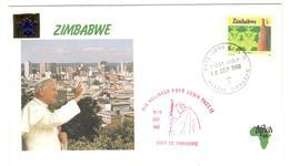 13270 - VISITE JEAN PAUL II - Zimbabwe (1980-...)