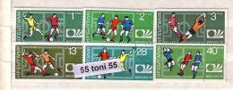 1974 World Cup-Germany 6v.- Used/oblit.(O) BULGARIA / Bulgarie - Bulgarien