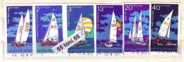1973 AQUATIC SPORTS - Sailing 6v.imperf.- Used/oblit.(O) BULGARIA / Bulgarie - Gebraucht