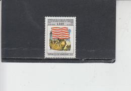 HONDURAS  1976 - Bandiere - USA - Francobolli