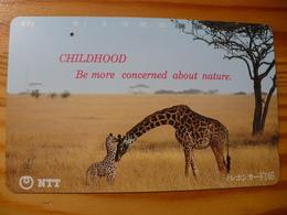 Phonecard Japan 231-088 Giraffe - Japan