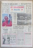 Journal Dauphiné Libéré Du DIMANCHE 4 Février X° Jeux Olympiques D'hiver De Grenoble 1968  J.C. Killy - Jeux Olympiques