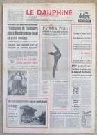 Journal Dauphiné Libéré Samedi 17 Février X° Jeux Olympiques D'hiver De Grenoble 1968 Schwarz Pera - Autres