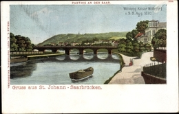 Cp St. Johann Saarbrücken Im Saarland, Partie An Der Saar - Germany