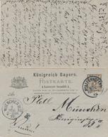 PFAFFENHOFEN / BAYERN  - 1892 , Postkarte Mit Antwort  - Nach München - Bavaria