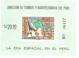 Peru Mnh ** Sheet 1969 Telco Telecom 4 Euros - Peru