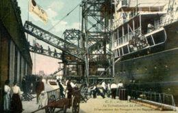 """N°68988 -cpa Le Havre -le Transatlantique """"La Provence"""" Débarquement Des Passagers- - Steamers"""