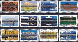 France 2017 - Landscapes ( Mi 6648/59 - YT Ad 1360/71 ) Complete Issue - Luchtpost
