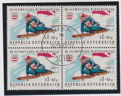 Jeux Olympiques D'Hiver 1975 à  Innsbrück:  Série Complète D'Autriche, Oblitérée En Blocs De 4,  TTB - Winter 1976: Innsbruck