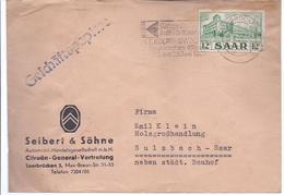 AK- C-228   - Saar Frankatur Auf Geschäftspost - 1947-56 Gealieerde Bezetting