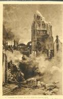 Cpa 62 Arras , Ww1 , Incendie De L'hôtel De Ville F.Flameng Juillet 1915 , Non Voyagée - Arras