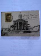 El Salvador San Salvador Iglesia De Candelaria 1909 Postally Usted To Spain - El Salvador