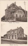 Chastre ,gare Vicinaux ,gare Etat ,( Tram Vicinal ,station ,statie , Intérieur ,train )) - Chastre