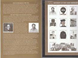 Südafrika 2017**, Folder; 100 Jahre University Of Fort Hare./ South Africa 2017, MNH, 100 Jahre University Of Fort Hare. - Sukkulenten