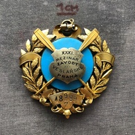 Badge Pin ZN007923 - Rowing / Kayak / Canoe Czechoslovakia Prague XXXI International Race 1897-07-09 - Rowing