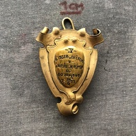 Badge Pin ZN007924 - Wrestling Czechoslovakia Zlin Championships Moravia And Bohemia 1911-09-24 - Lotta
