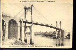Dpt 22 Lezardrieux Pont Suspendu Carte Legendee No14 - France