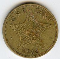 Bahamas 1 Cent 1968 Rare KM 2 - Bahamas