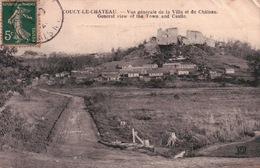 CPA 02 COUCY LE CHÂTEAU Vue Générale De La Ville Et Du Château - Francia