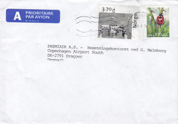 Norway A PRIORITAIRE Par Avion Label ASKER 1997 Cover Brief Airport Dragør Denmark Ladybug Marienkäfer Coccinelle - Norwegen