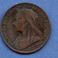 Grande Bretagne - 1 Penny 1897   - Km # 790   -état  TB - 1816-1901 : Frappes XIX° S.