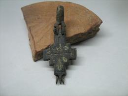 Byzantine Reliquary Cross (Encolpion) 9-12 Centuries - Archaeology