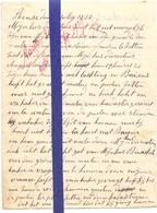 Brief Lettre - Remi Leprez  Renaix Ronse - Naar Kadaster 1927 + Brief Met Antwoord - Vieux Papiers