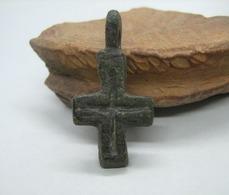 Medieval Europe. Bronze Cross 9-12 Century - Archaeology