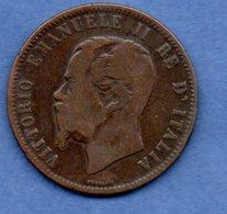 Italie - 10 Centesimi 1862   - Km # 11.2   -état  B+ - 1861-1878 : Victor Emmanuel II