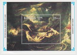 Bhutan Mi 1431 - Anniversary Of The Death Of Peter Paul Rubens - Hero And Leander - Painting * * Minisheet - Bhutan